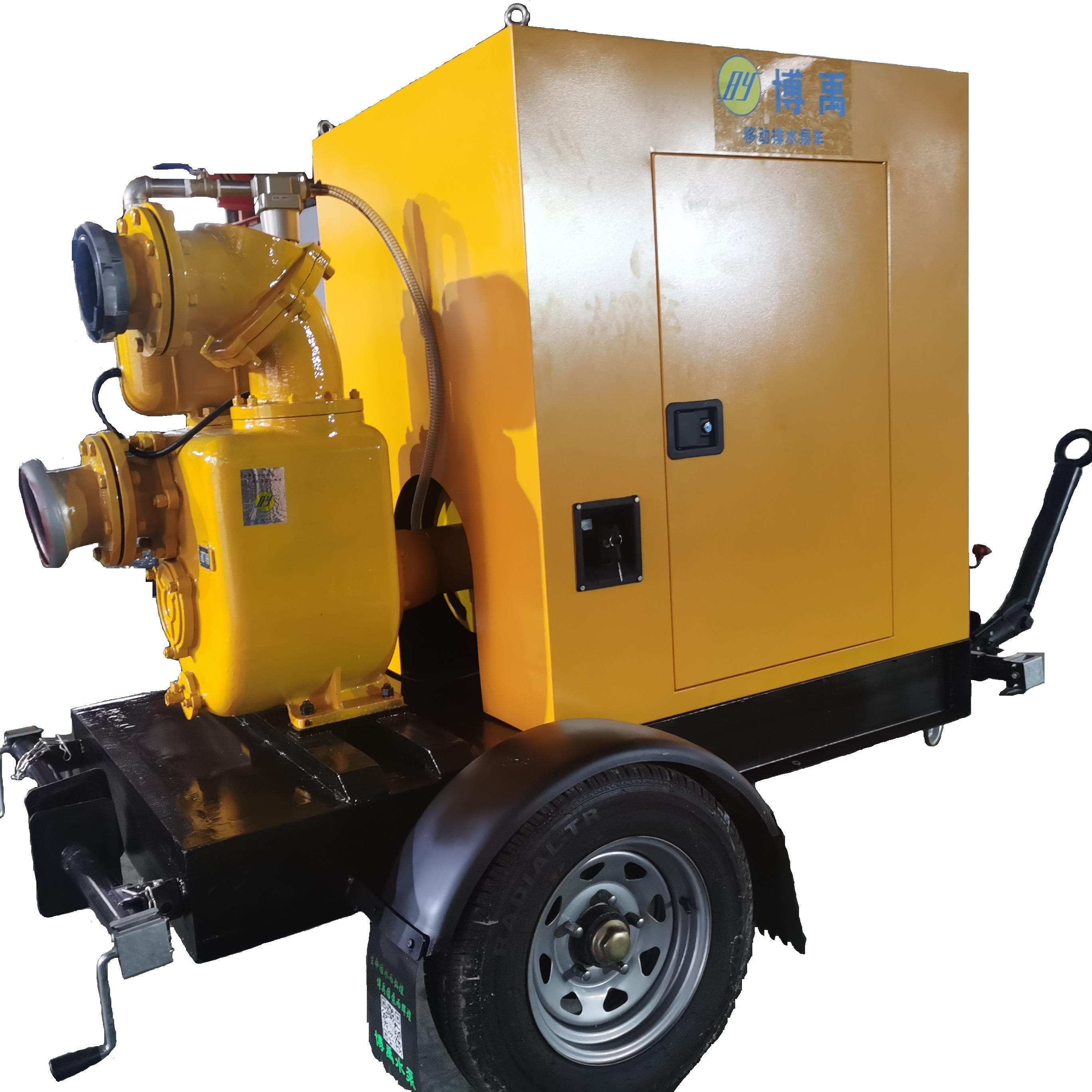 高吸程防汛移动泵车