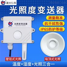 RS-GZ-N01-2-20W建大仁科光照度传感器照度仪485室外吸顶式