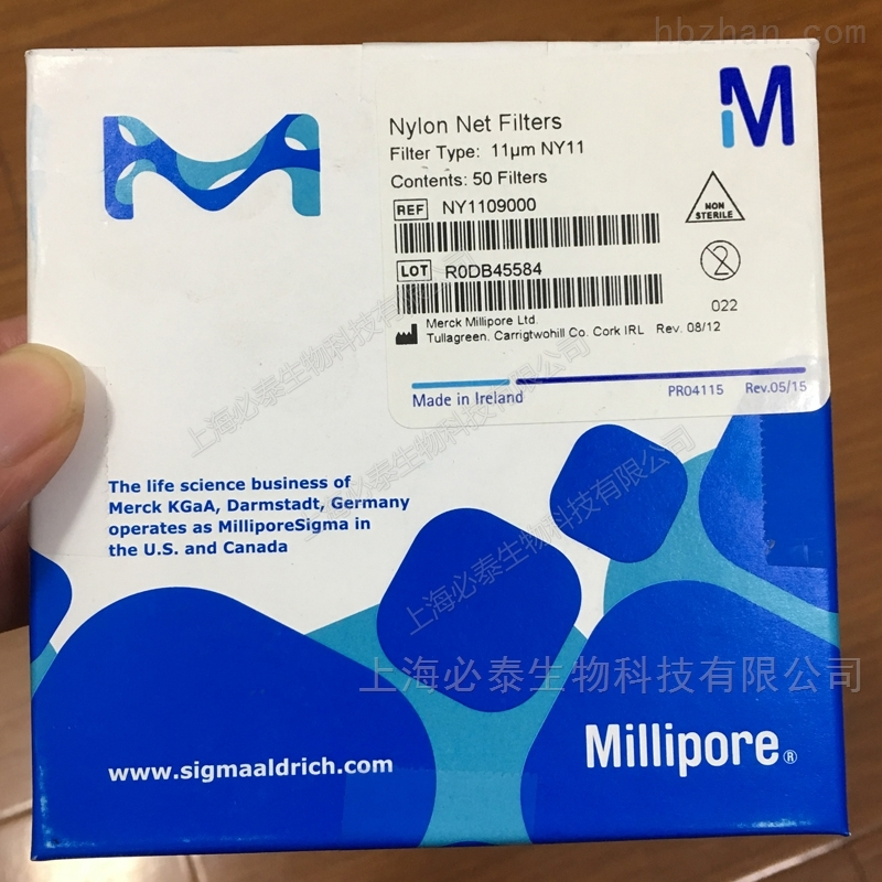 默克密理博Millipore 11um90mm尼龙网膜
