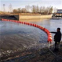河道拦污河道拦白色垃圾浮筒