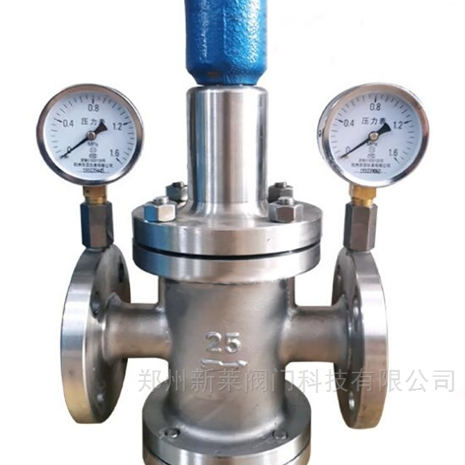 Y42X-16P带压力表不锈钢水用减压阀