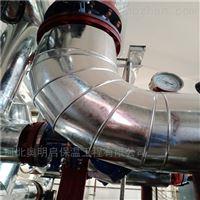 岩棉铁皮蒸汽管道施工