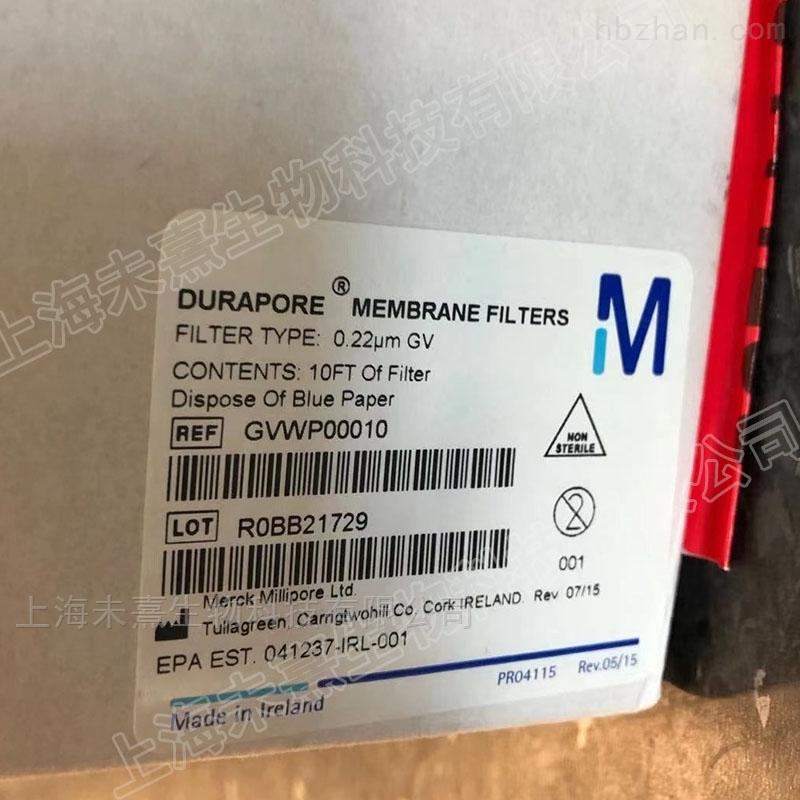 默克密理博孔径0.22um亲水性PVDF滤膜