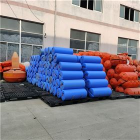 FT200*1000环保高分子浮筒钢丝绳穿孔组合连接浮排