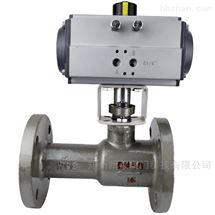 Q641M-16C气动一体式高温排污球阀