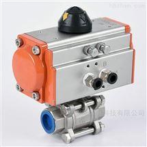 Q661F-16P气动三片式不锈钢焊接球阀