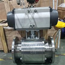 Q641TC-16P气动不锈钢陶瓷法兰球阀