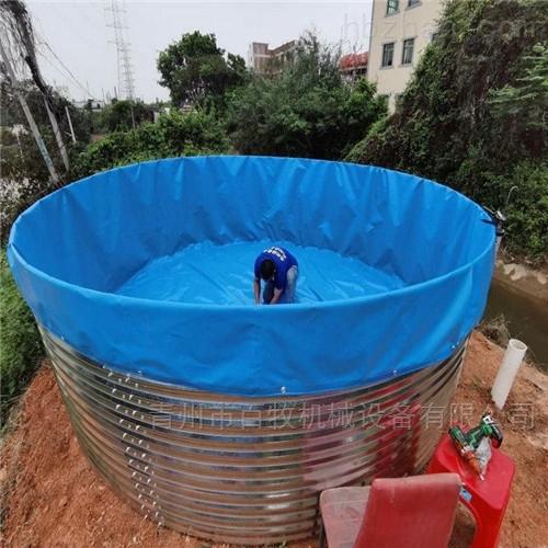 新型高密度养殖水产鱼塘