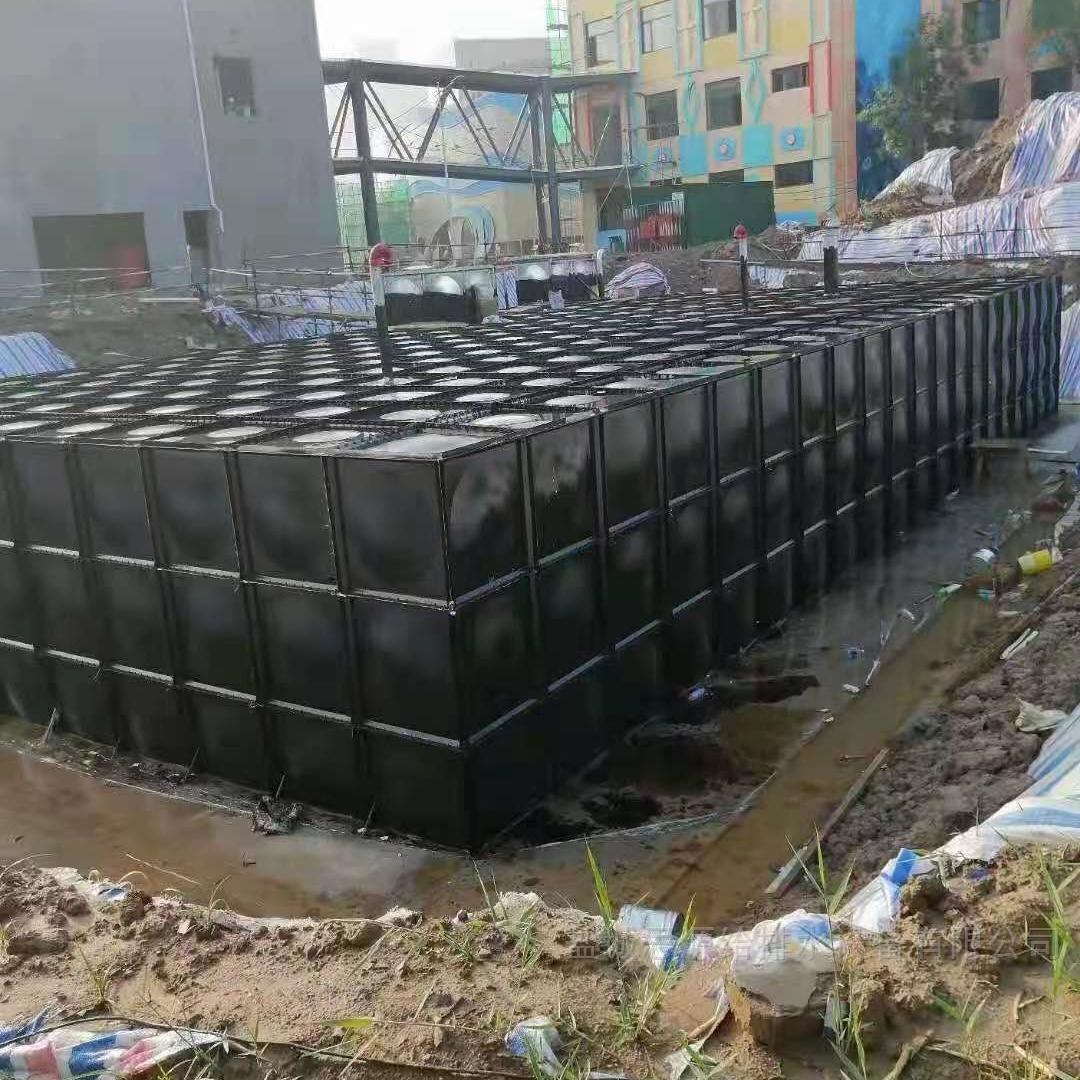 地埋式消防箱泵一体化水箱 具体的施工方案