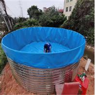 高密度养殖镀锌板鱼池