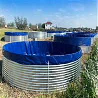 高密度水产养殖镀锌板水池