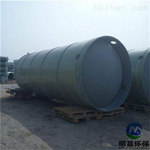 龙泉市玻璃钢一体化雨水提升泵站
