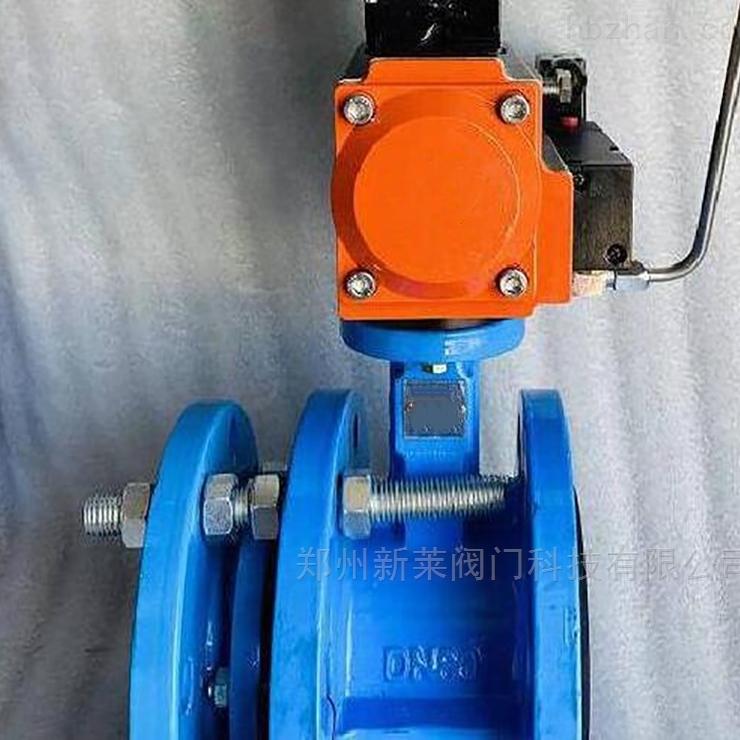 SD641X-16C气动铸钢法兰伸缩蝶阀