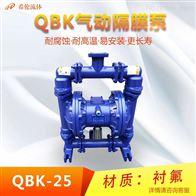 QBY-25CFFTF流体衬氟气动隔膜泵
