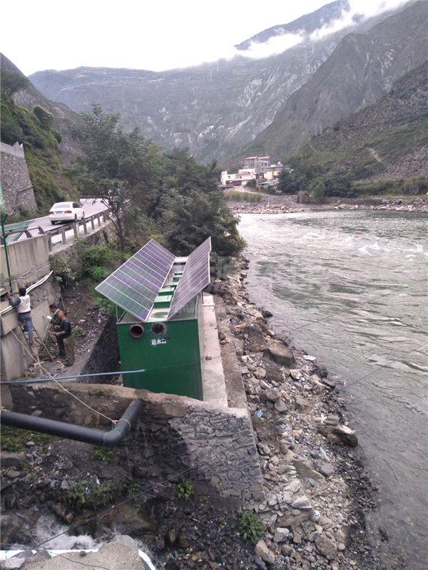 四川太阳能污水处理设备案例现场