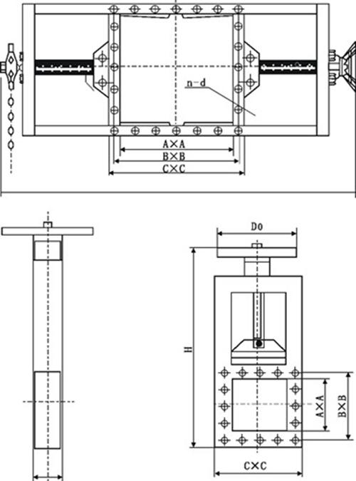 电动螺旋闸门图