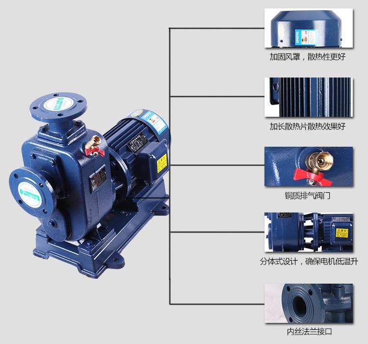 自吸式污水泵结构图