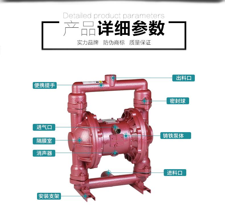 第二代气动隔膜泵结构图