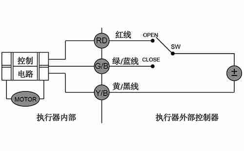 CWX-60P微型电动球阀CR02接线图