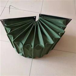 绿色帆布除尘通风伸缩软连接
